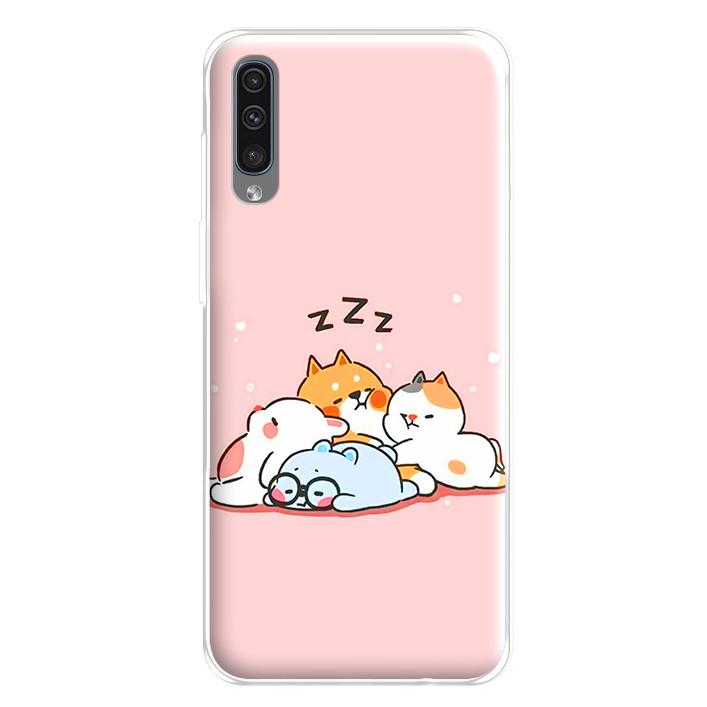 Ốp lưng dẻo cho điện thoại Samsung Galaxy A50 - 224 0047 SLEEP