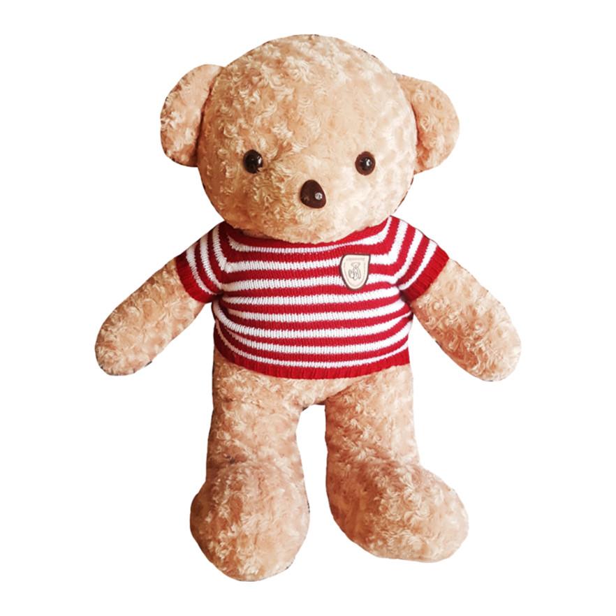 Gấu bông UNISU 1m áo len - Màu be
