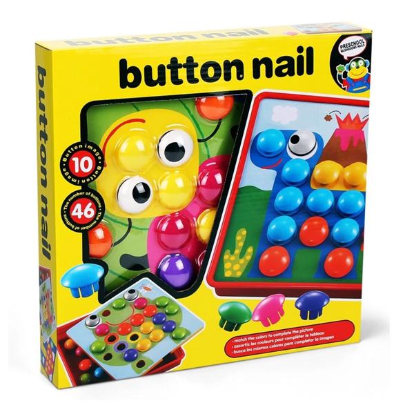 Hộp đồ chơi Nút cài tranh ( Button nails )