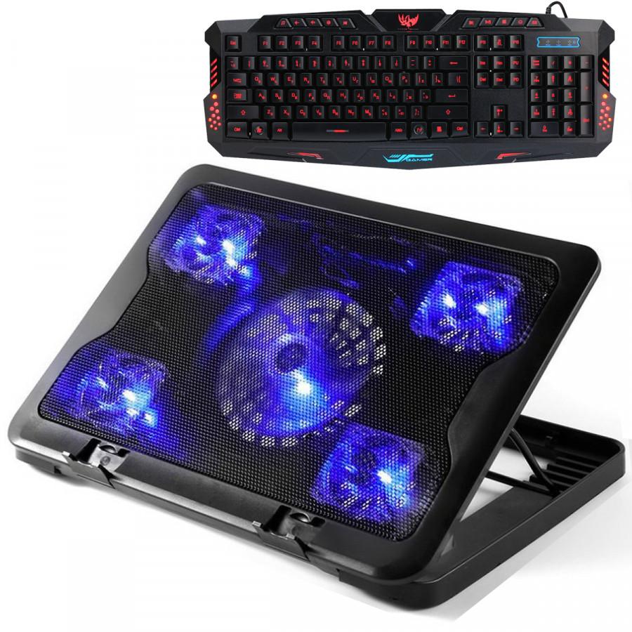 Combo Đế Tản Nhiệt Laptop 5 Quạt Tốc Độ Lớn C5 + Tặng Bàn Phím Chuyên Game Cao Cấp - 777886 , 5926285790175 , 62_11386421 , 600000 , Combo-De-Tan-Nhiet-Laptop-5-Quat-Toc-Do-Lon-C5-Tang-Ban-Phim-Chuyen-Game-Cao-Cap-62_11386421 , tiki.vn , Combo Đế Tản Nhiệt Laptop 5 Quạt Tốc Độ Lớn C5 + Tặng Bàn Phím Chuyên Game Cao Cấp