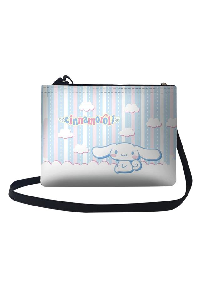 Túi Đeo Chéo Nữ In Hình Thỏ Cinamon Ngồi Trên Mây - TUCT095 (24 x 17 cm)