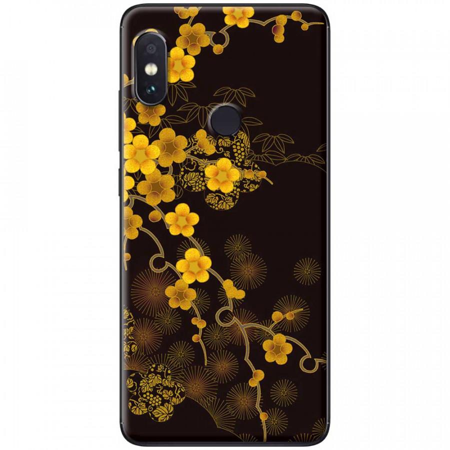 Ốp lưng dành cho Xiaomi Redmi Note 6 Pro mẫu Hoa mai nền đen