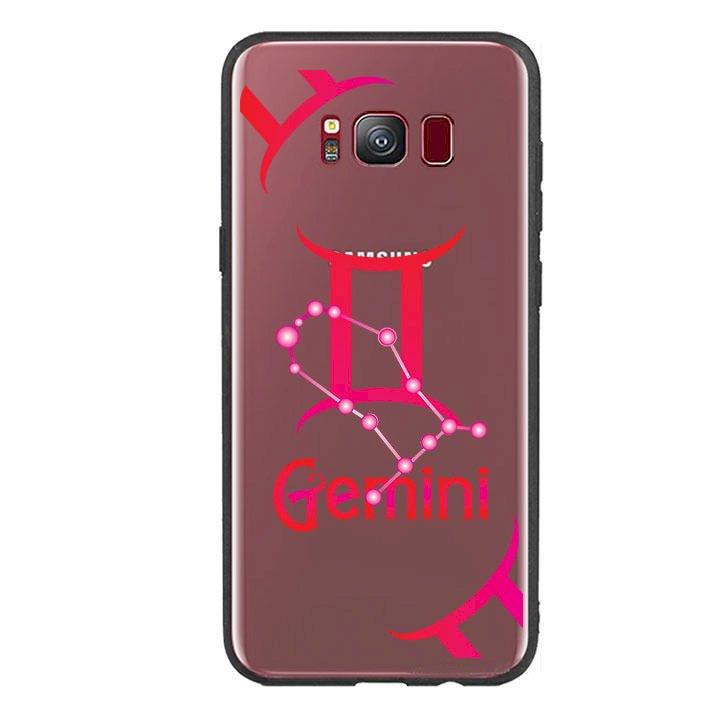 Ốp lưng Cho Điện Thoại Samsung Galaxy S8 viền TPU cung Song Tử - Gemini