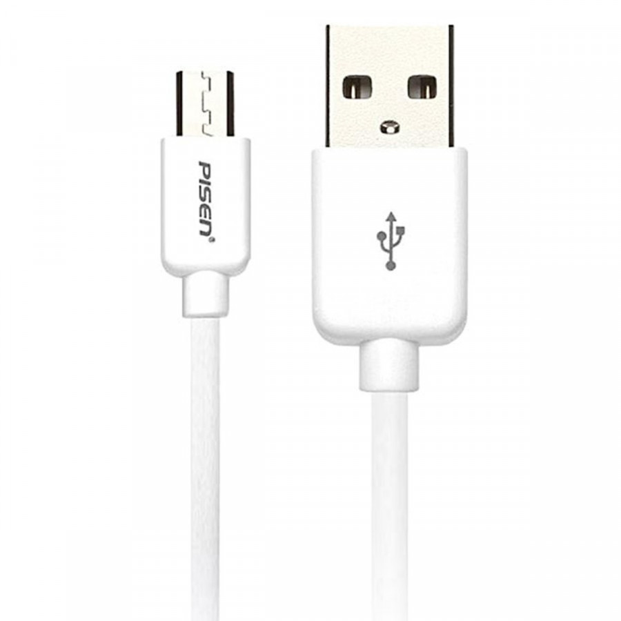 Dây cáp sạc Micro USB Pisen 2A dài 1m (Dây sạc dành cho điện thoại Android) - Hàng Chính Hãng