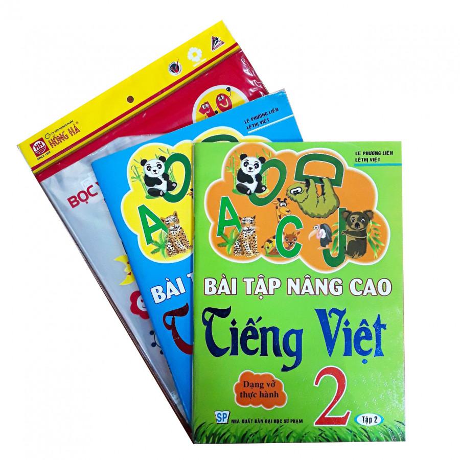 Combo Bài tập nâng cao Tiếng Việt lớp 2(dạng vở thực hành) + tập bọc sách vở