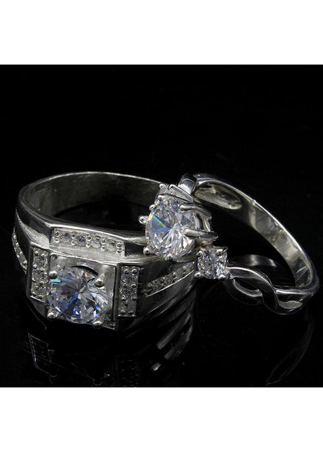 Nhẫn đôi BẠC HIỂU MINH nc540 kỉ niệm_cỡ đại