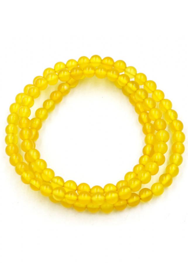 Chuỗi hạt đeo tay niệm Phật 108 hạt đá hoàng ngọc