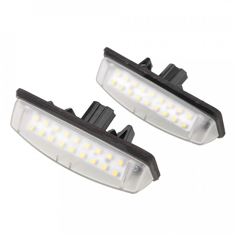 Bộ 2 Đèn LED Siêu Sáng Chiếu Biển Số Ô Tô 6500K