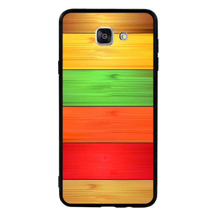 Ốp lưng nhựa cứng viền dẻo TPU cho điện thoại Samsung Galaxy A9 - Sắc Màu