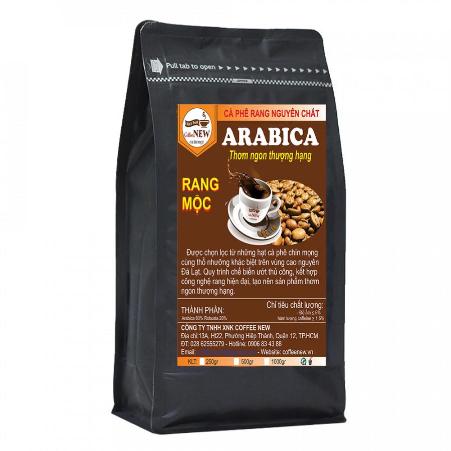 Cà Phê Rang Mộc Nguyên Chất Arabica 100% - Thơm Ngon Đặc Biệt - Dạng Xay Pha Phin - Gói 1Kg - Coffee New