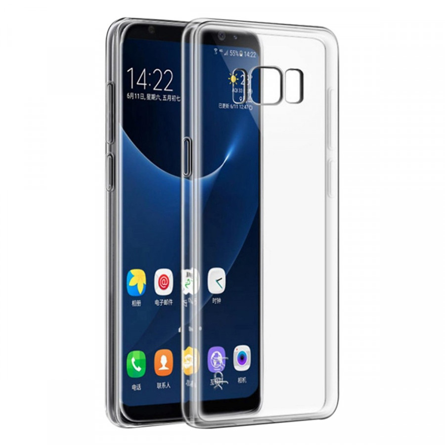Ốp dẻo silicon cho Samsung S8 Plus - Trong suốt