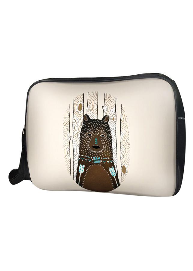 Túi Đeo Chéo Hộp Unisex Gấu Nâu Họa Tiết - TCAA210