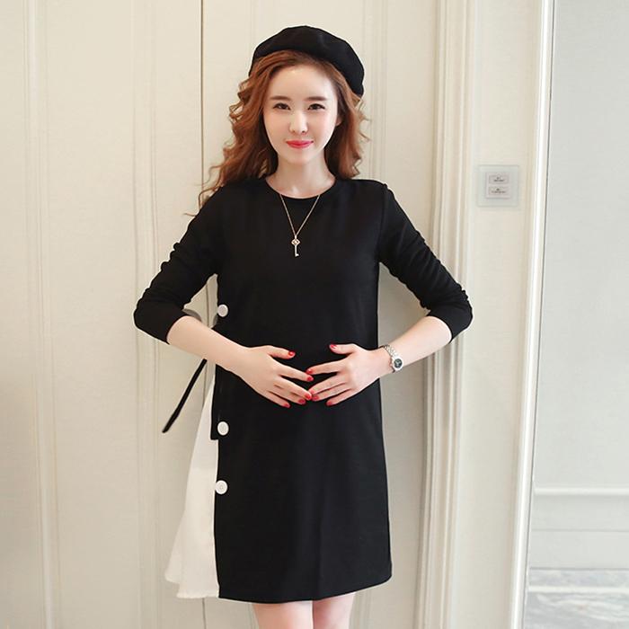 Đầm Váy Bầu Công Sở Cát Hàn Eo Nơ Vb007