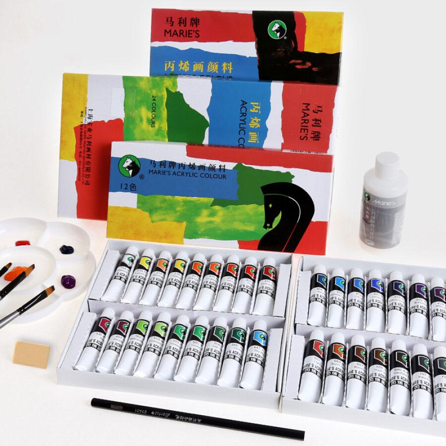 Tuýp Màu Vẽ Acrylic (12ml) Marie