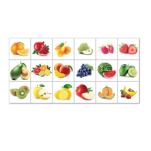Decal dán bếp họa tiết trái cây bền đẹp GB-033 KT 120 x 60 cm