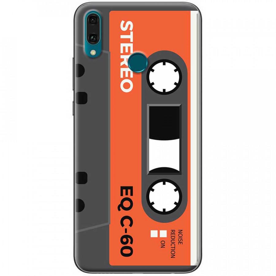 Ốp lưng dành cho Huawei Y9 2019 mẫu Cassette xám cam