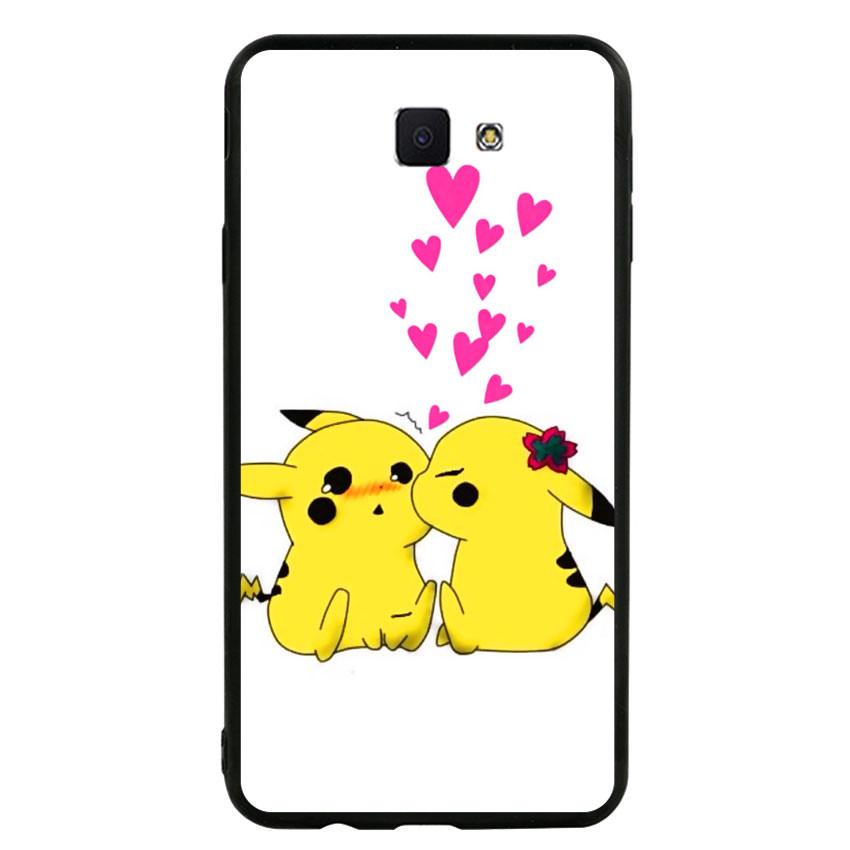 Ốp lưng viền TPU cho điện thoại Samsung Galaxy J7 Prime - Pikachu 02