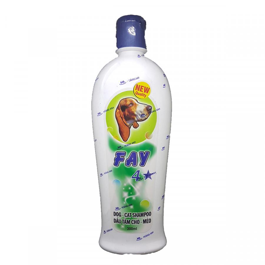 Dầu Tắm Sữa Tắm Diệt Ve Rận Bọ Chét Mượt Lông Khử Mùi Hôi Chó Mèo Fay 4 Sao 300ml