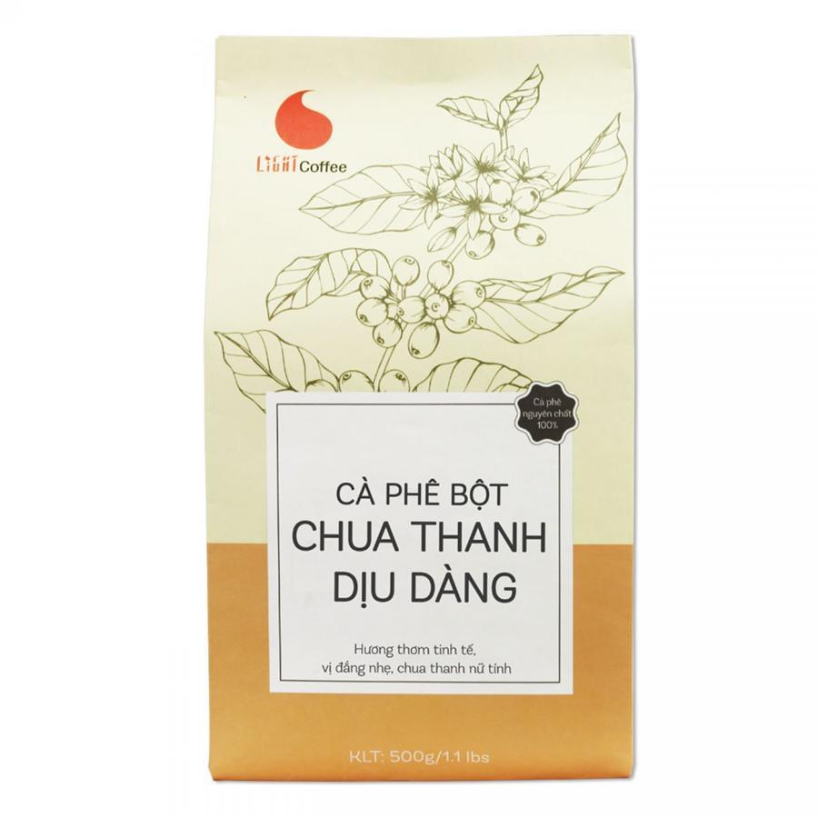 Cà Phê Nguyên Chất 100% Light Coffee Chua Thanh (500g)
