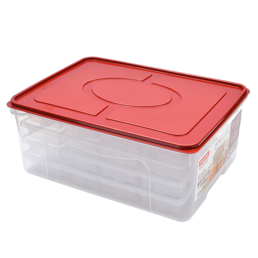 JEKOJEKO plastic multi-function transparent storage box storage box sealed box frozen dumpling box box (20 grids 4 layers) SWB-5439