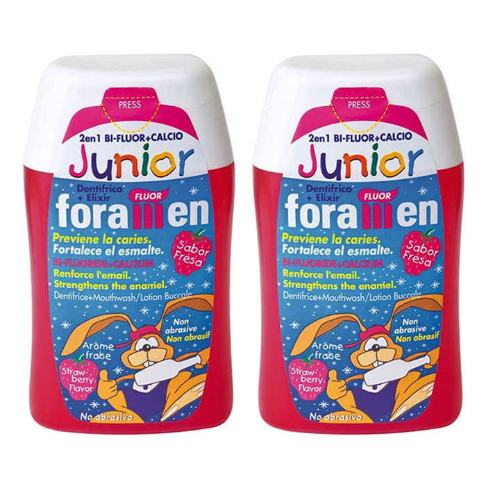 Foramen 2 in 1 Toothpaste  Mouthwash. Junior (100ml) 2pcs