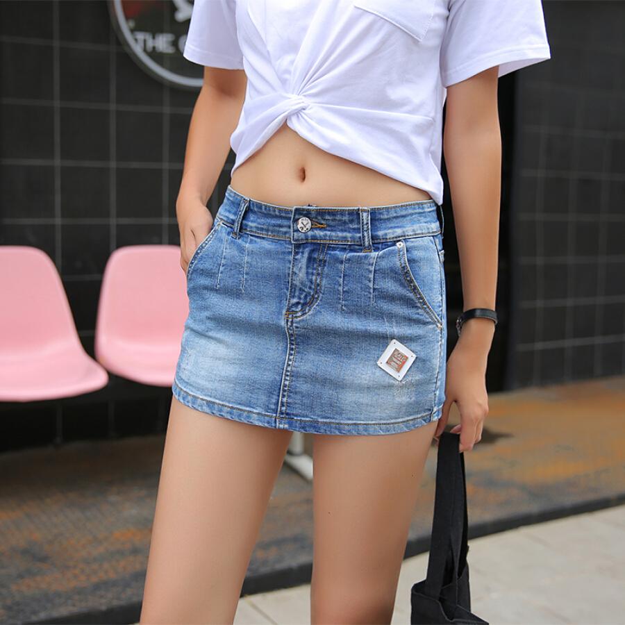 Chân Váy Jean Nữ Ngắn Hàn Quốc Langyue LWQZ183422