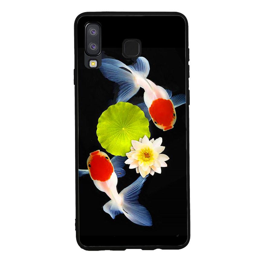 Ốp lưng nhựa cứng viền dẻo TPU cho điện thoại Samsung Galaxy A8 Star - Cá Koi 04