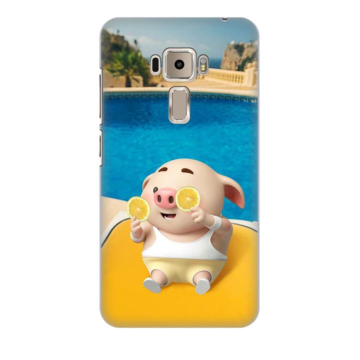 Ốp lưng nhựa cứng nhám dành cho Asus Zenfone 3 Laser ZC551KL in hình Heo Tắm Bể Bơi