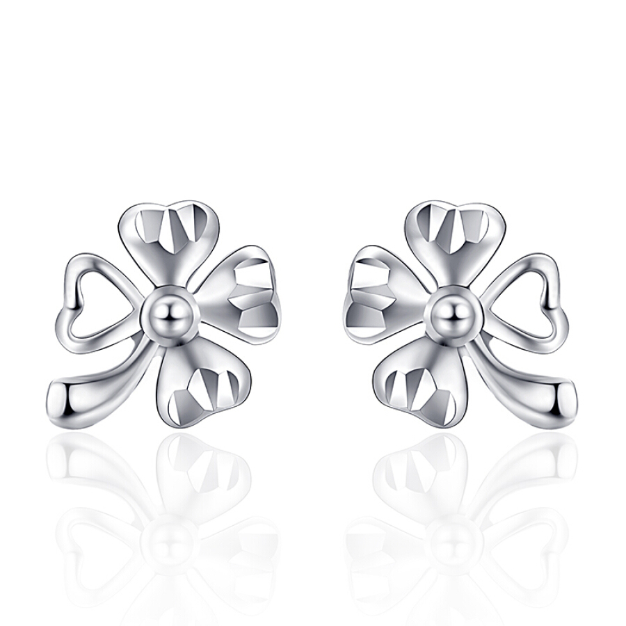 Xin Wanfu Platinum Stud Earrings Women