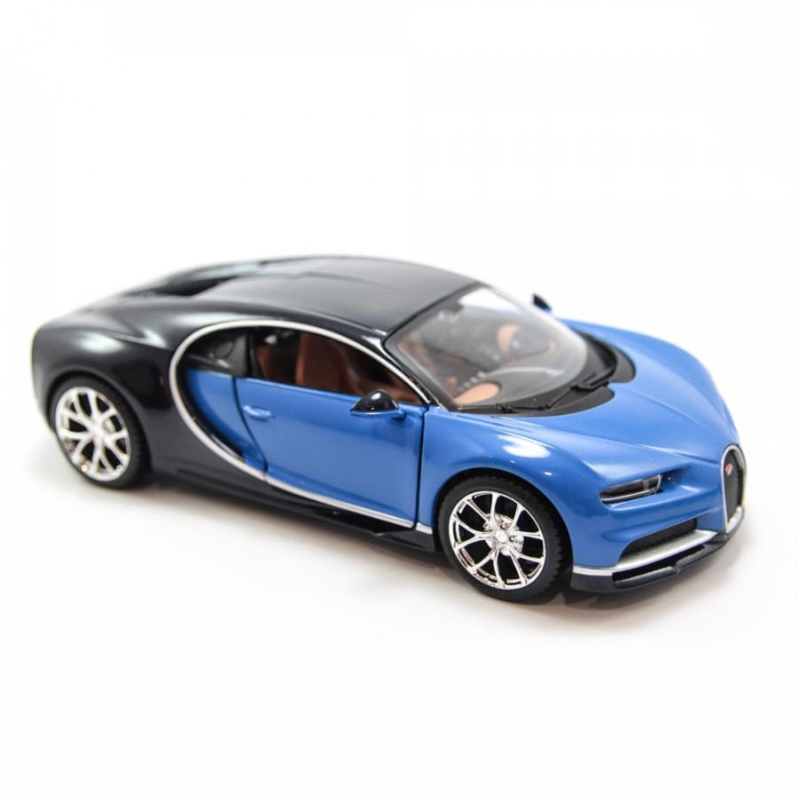 Mô hình xe BUGATTI CHIRON BLUE 1:24 MAISTO