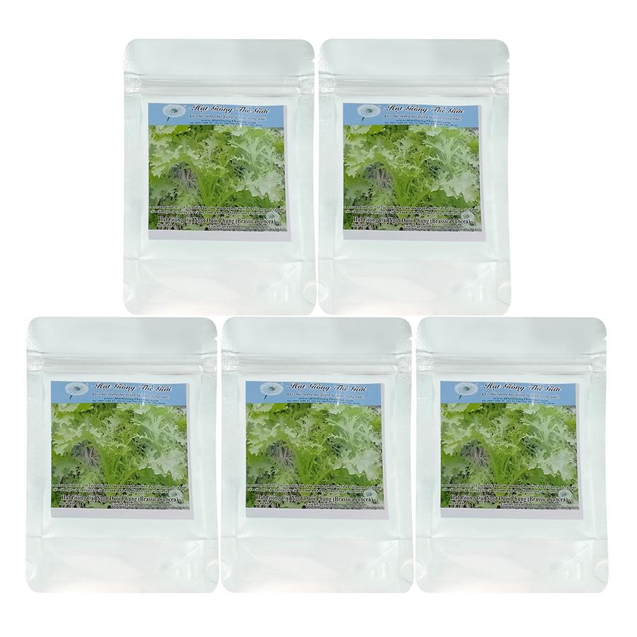 Bộ 5 Túi Hạt Giống Cải Ngọt Đuôi Phụng (Brassica Juncea) (5g/Túi)