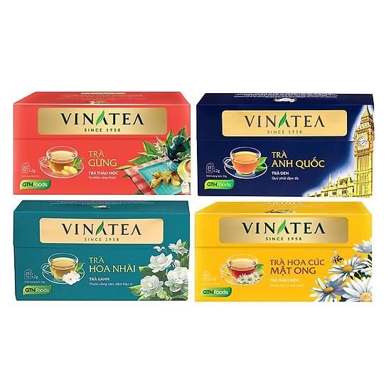 Combo 4 Hộp Trà Túi Lọc Vinatea: trà hoa nhài + trà hoa cúc mật ong + trà gừng + trà đen hảo hạng (trà Anh Quốc ) - 18698408 , 2930929984649 , 62_24949363 , 240000 , Combo-4-Hop-Tra-Tui-Loc-Vinatea-tra-hoa-nhai-tra-hoa-cuc-mat-ong-tra-gung-tra-den-hao-hang-tra-Anh-Quoc--62_24949363 , tiki.vn , Combo 4 Hộp Trà Túi Lọc Vinatea: trà hoa nhài + trà hoa cúc mật ong + t