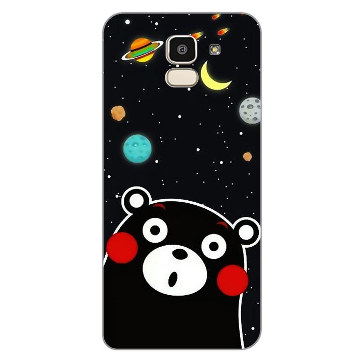 Ốp lưng dẻo Nettacase cho điện thoại Samsung Galaxy J6_0345 BEAR03 - Hàng Chính Hãng