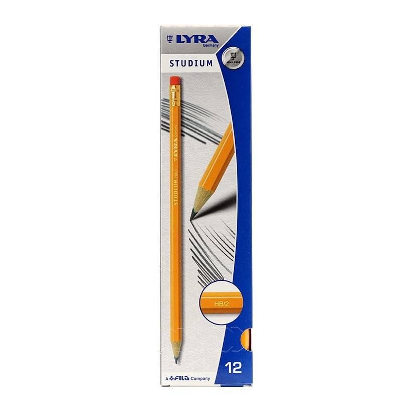 Bút Chì Đen Lyra Studium HB/2 (12 Chiếc/Hộp)