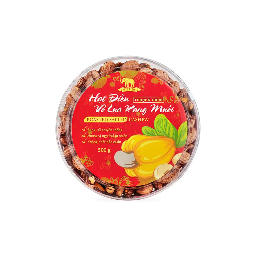 Hạt Điều Rang Muối Vỏ Lụa Viet Uc Foods (500g)