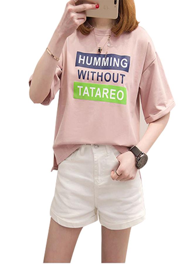 Áo thun nữ humming màu dâu d472 thương hiệu Td