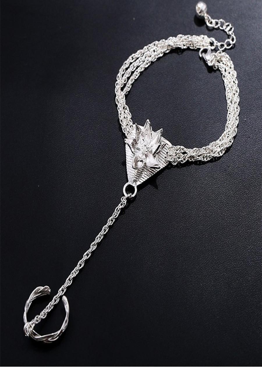 Lắc tay Thương Tâm Hoa Phim Tru Tiên Bản Tam Giác thiết kế độc đáo phong cách cổ trang cổ điển tặng ảnh thiết...