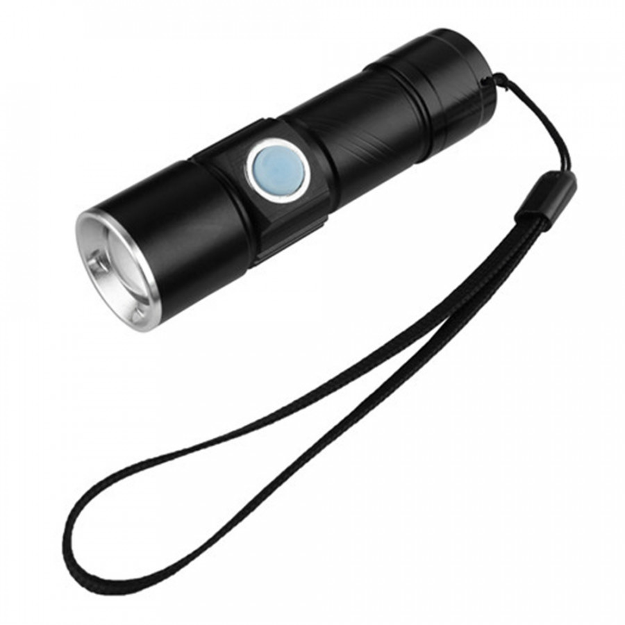 Rechargeable Mini LED Flashlight Hunting Torch Light Lantern 3 Modes Zoomable Torch With Usb Port For Outdoor Camping