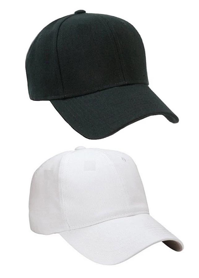 Combo 2 nón trơn thời trang (Đen - Trắng)