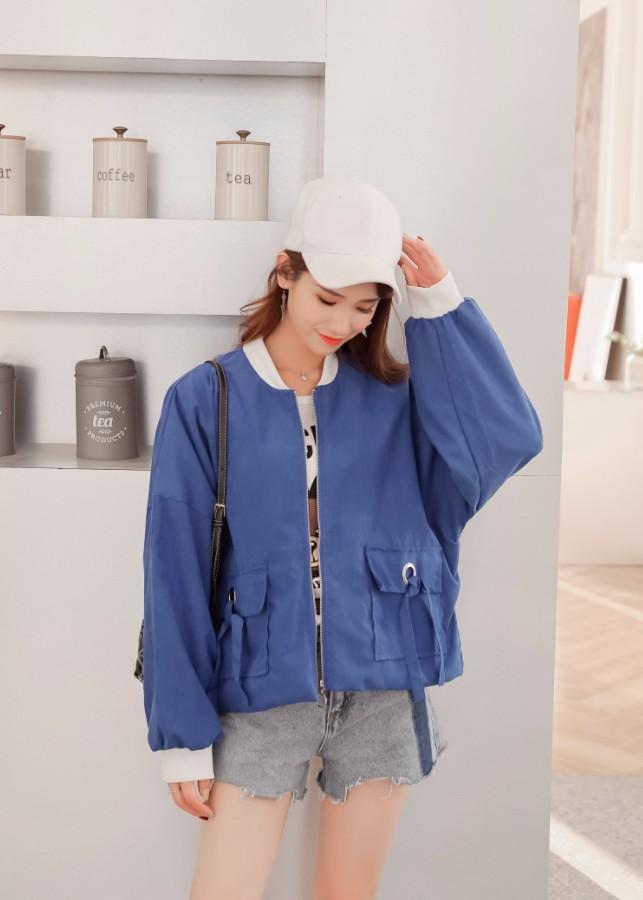Áo khoác nữ túi hộp Mã: AO3485 - XANH