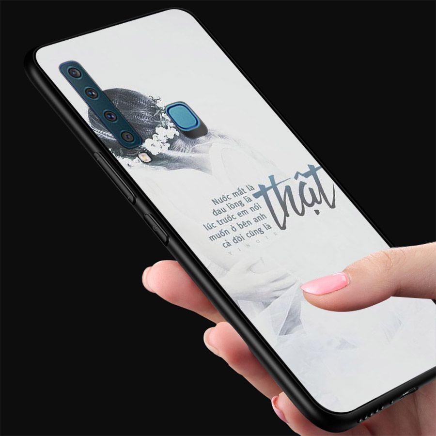 Ốp kính cường lực dành cho điện thoại Samsung Galaxy A9 2018/A9 Pro - M20 - ngôn tình tâm trạng - tinh2057