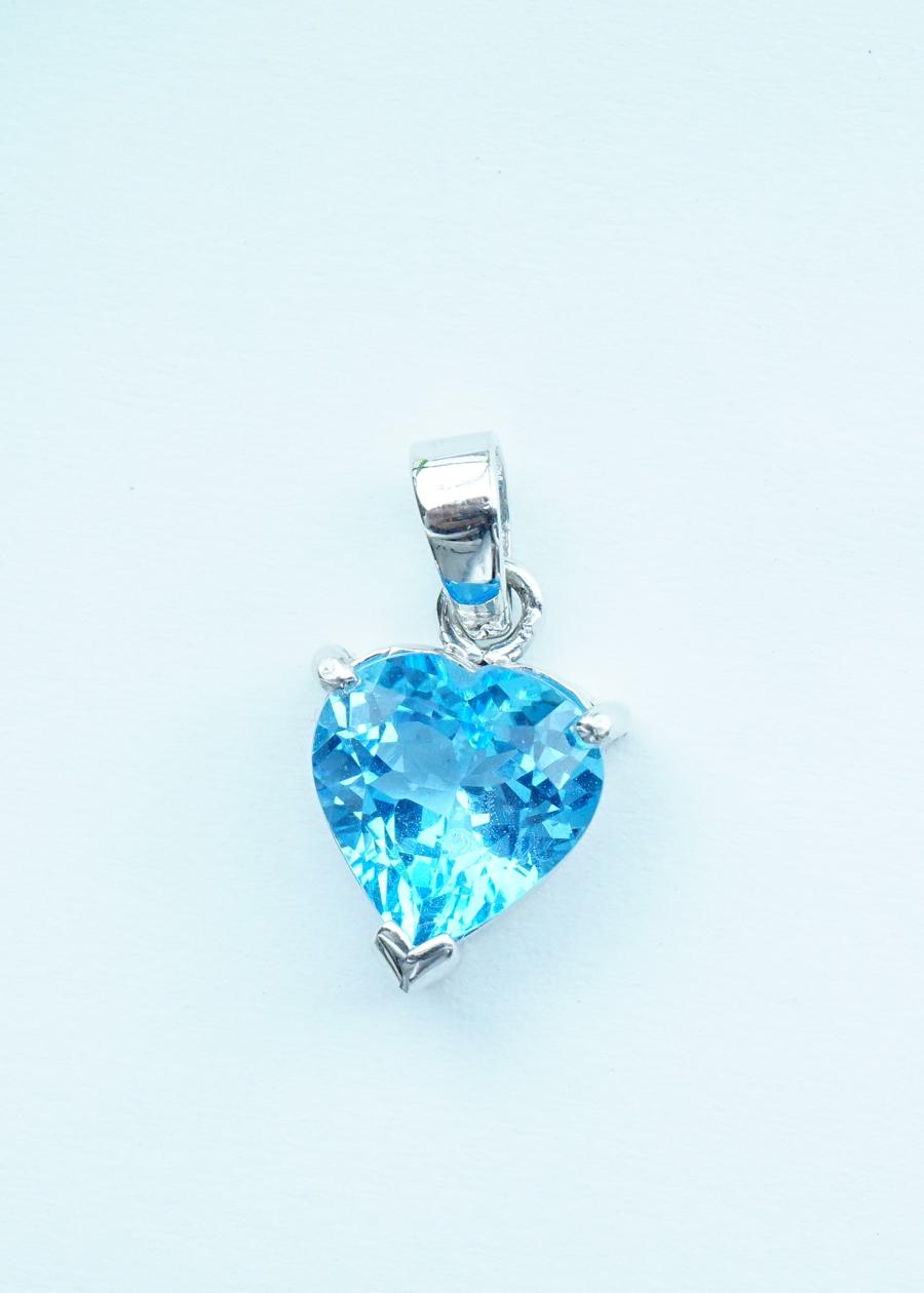 Mặt dây chuyền đá Topaz xanh khoen bạc đính đá - 7110451 , 4895836259144 , 62_10420045 , 2000000 , Mat-day-chuyen-da-Topaz-xanh-khoen-bac-dinh-da-62_10420045 , tiki.vn , Mặt dây chuyền đá Topaz xanh khoen bạc đính đá