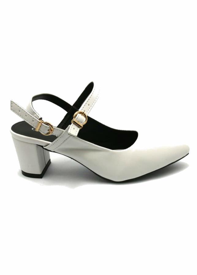 Giày Sandal Nữ Cao Gót Công Sở Cindydrella C142T - Trắng