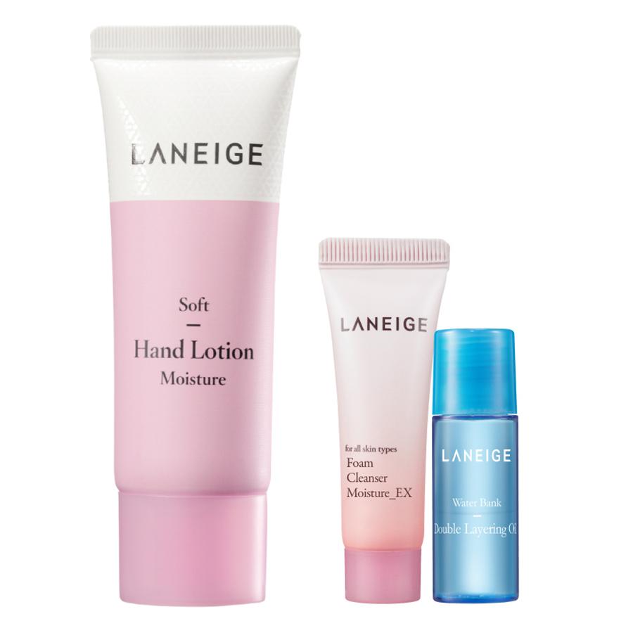 Sữa Dưỡng Làm Mềm Da Tay Laneige Soft Hand Lotion (40ml) - Tặng Sữa Rửa Mặt (15ml) Và Dầu Dưỡng Ẩm (5ml)
