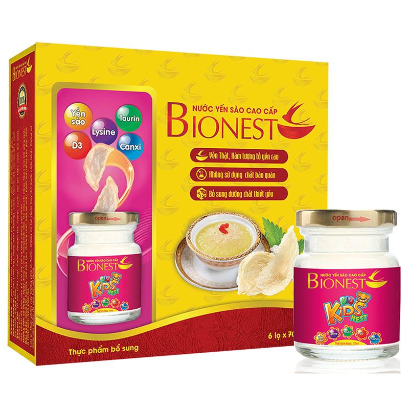 Yến sào Bionest Kids cao cấp - hộp tiết kiệm 6 lọ - 1305234 , 7078882003887 , 62_6278575 , 249000 , Yen-sao-Bionest-Kids-cao-cap-hop-tiet-kiem-6-lo-62_6278575 , tiki.vn , Yến sào Bionest Kids cao cấp - hộp tiết kiệm 6 lọ
