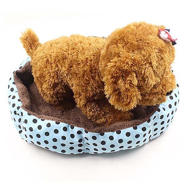 Nệm Ngủ Tròn Chấm Bi Cho Chó Mèo Nhỏ (Giao Màu Ngẫu Nhiên)
