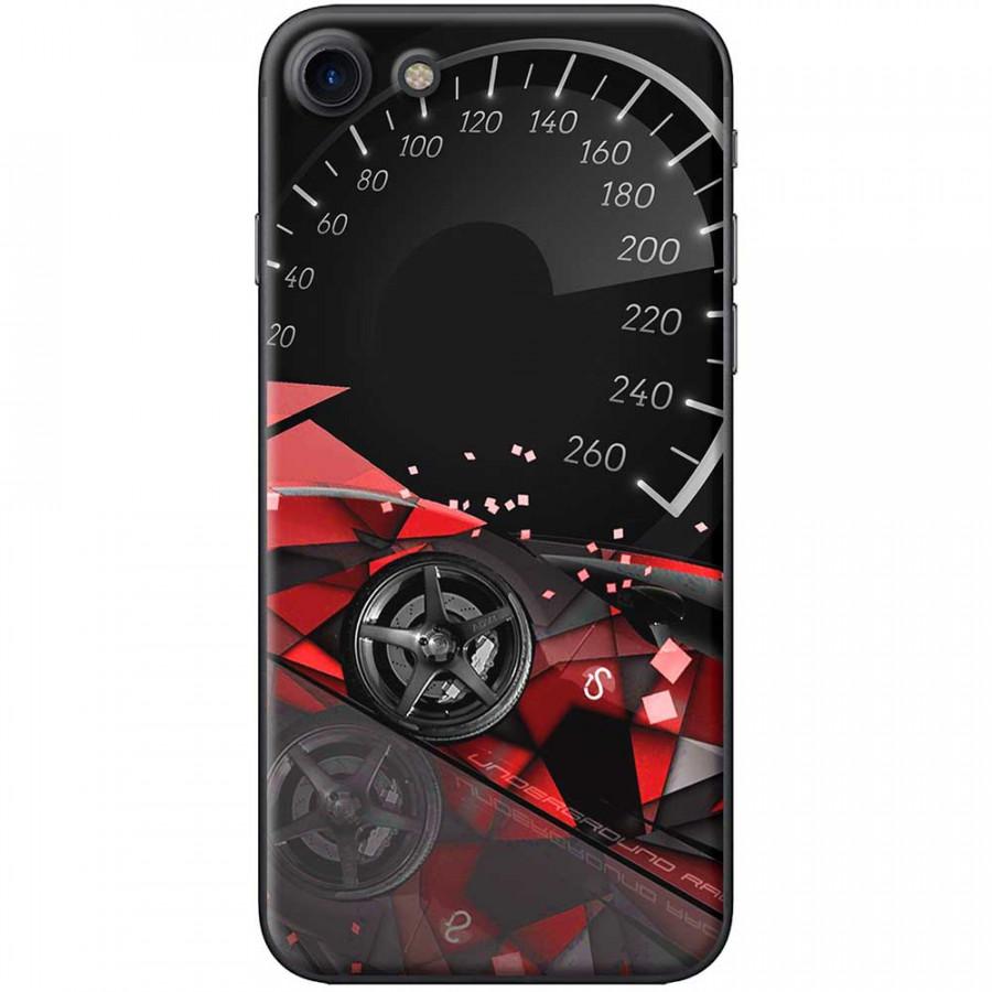 Ốp lưng dành cho iPhone 7 mẫu Đồng hồ tốc độ đỏ