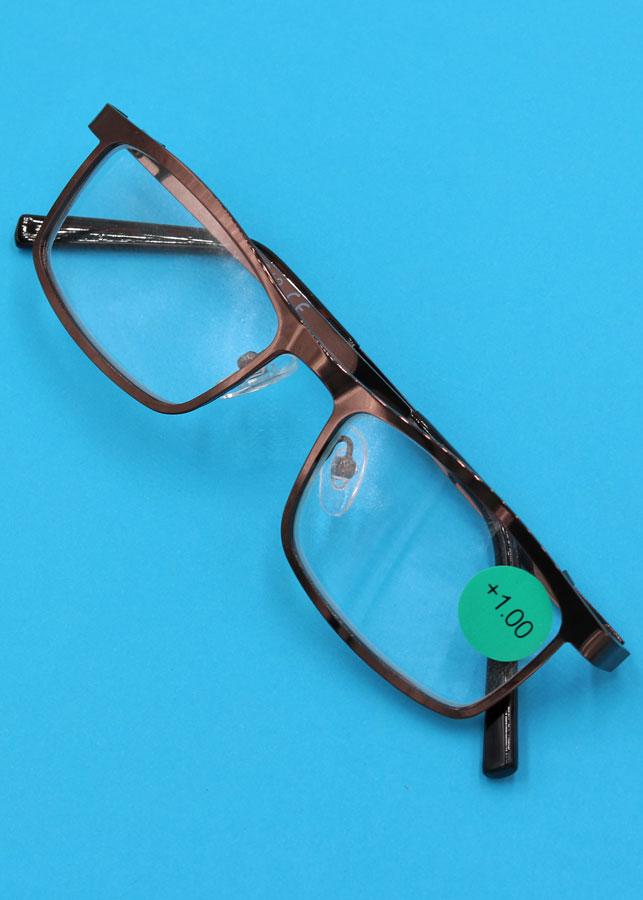Mắt kính lão 868 inox nâu 1 độ