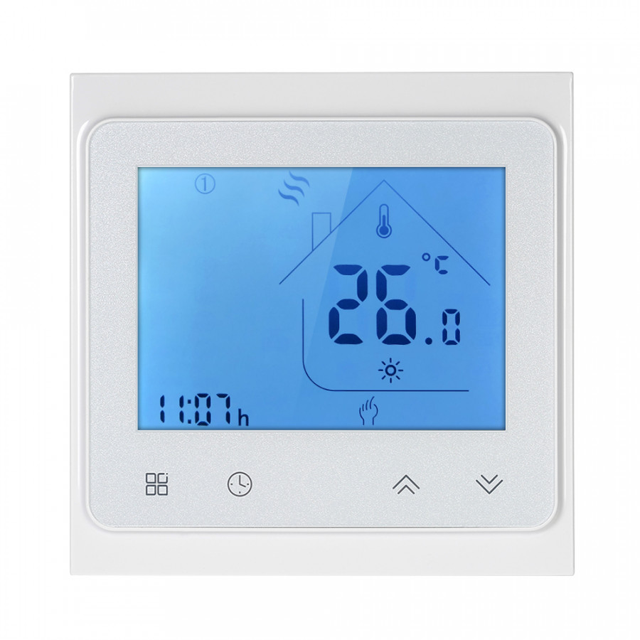 5A Programmable Water Heating Controller Temperature Regulator Thermostat Touchscreen Lcd With Backlight Voice Control
