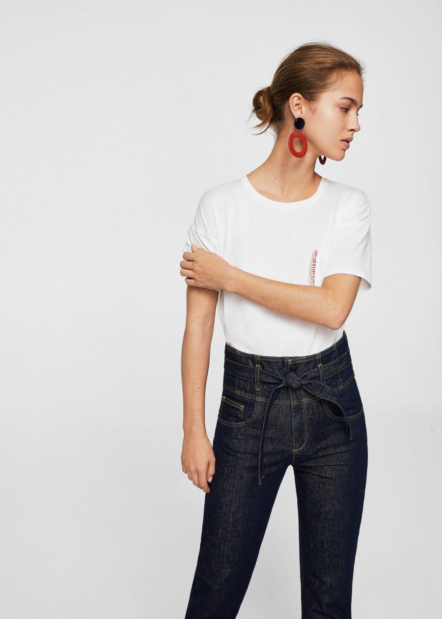 Áo Thun Nữ T-shirt Poc-H Mango 23003664 - Mã Màu 1